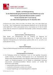 1. Änderungssatzung - Hochschule Landshut