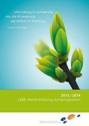 aktuellen Kursprogramm - Lehrerinnen und Lehrer Bern LEBE