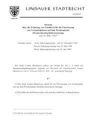 Wochenmarktgebührensatzung - Lindau