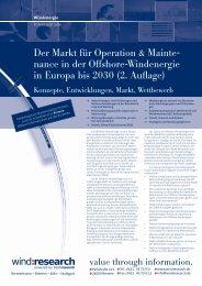 Der Markt für Operation & Mainte- nance in der ... - trend:research