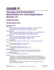 Topology and Orchestration Specification for Cloud Applications ...
