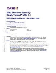 Web Services Security: SAML Token Profile 1.1 - docs oasis open ...