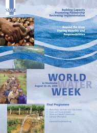 Final Programme Beyond the River - World Water Week