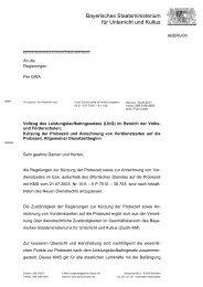 Bayerisches Staatsministerium für Unterricht und Kultus - GEW ...