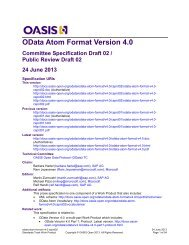 OData Atom Format Version 4.0 - docs oasis open - Oasis