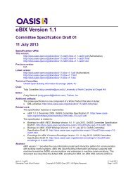 oBIX Version 1.1 Committee Specification Draft 01 11 July 2013
