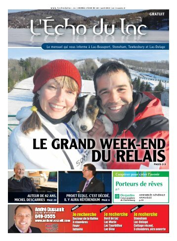LE GRAND WEEK-END - L'Écho du Lac