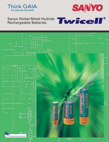 Sanyo Nickel-Metal Hydride Rechargeable Batteries