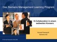 Das Siemens Management Learning Program