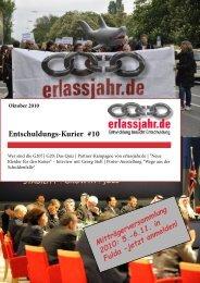 Entschuldungs-Kurier #10 - Erlassjahr.de