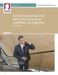 Lincoln universal and term life insurance portfolio ... - A Plus Marketing