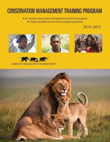 conservation management training program - African Wildlife ...