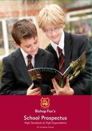 Prospectus (pdf) - Bishop Fox's School