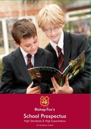 Prospectus (pdf) - Bishop Fox's School