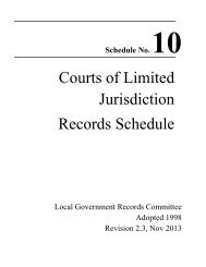 Courts of Limited Jurisdiction Retention Schedule - Montana ...