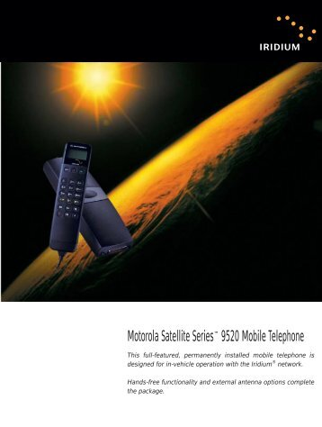 Motorola Iridium Mobile Satphone - Satellite Internet | Phone