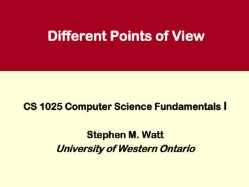 Different Points of View.pdf - Computer Science - University of ...