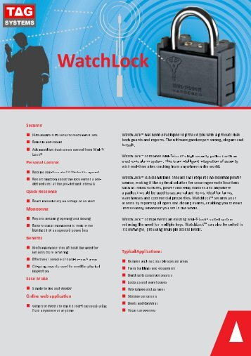 WatchLock High Quality Mechanical Lock with Electronic Alarm System