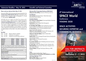 Download Call for Abstracts - Airtec
