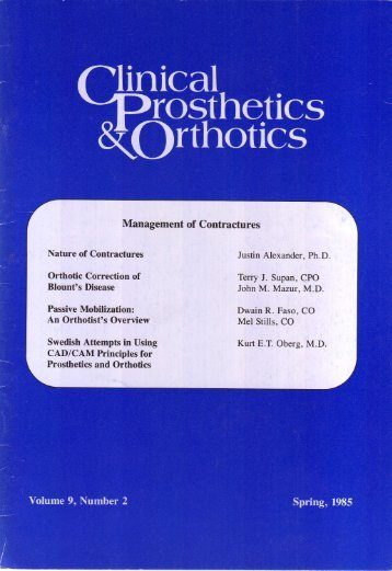 View Complete Issue PDF - O&P Library