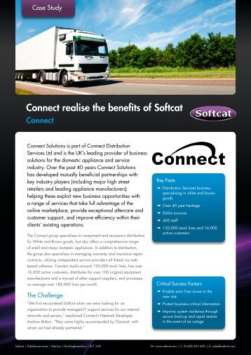 Connect realise the benefits of Softcat