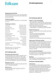 Försäkringsbesked - upplevelseriket
