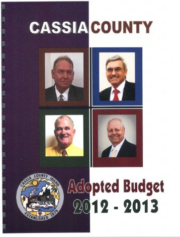 Final Approved Budget - Cassia County Government