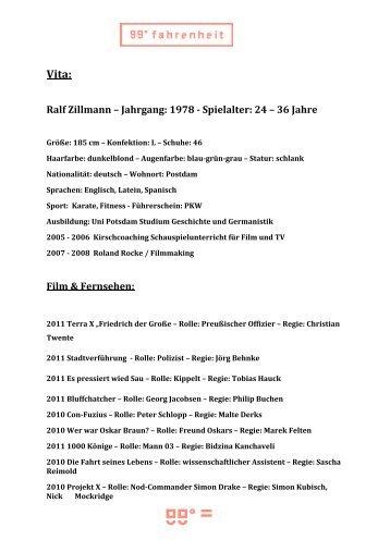 Vita Ralf Zillmann - 99-grad