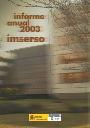 Informe Anual 2003 - Imserso