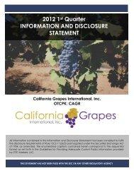 2012 1st Quarter INFORMATION AND DISCLOSURE ... - OTCIQ.com