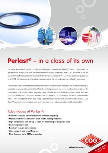 Perlast® – in a class of its own - C. Otto Gehrckens GmbH & Co. KG