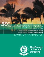 2014 Exhibitor Prospectus - The Society of Thoracic Surgeons