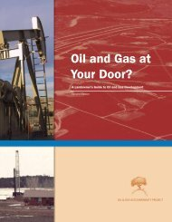 Oil and Gas at Your Door? (2005 Edition) - Earthworks