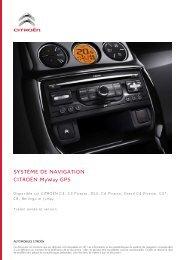SYSTÈME DE NAVIGATION CITROËN MyWay GPS