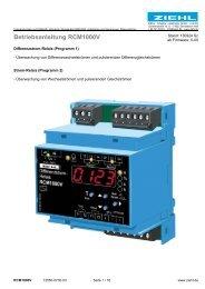 Betriebsanleitung RCM1000V - Ziehl industrie-elektronik GmbH + ...