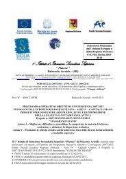 RIPUBBLICAZIONE BANDO POR e ALLEGATO N. 1 ... - Liceo Platone