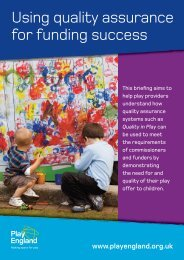 Using quality assurance for funding success - Play England