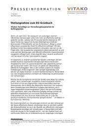 Stellungnahme zum EU-Grünbuch - Vitako