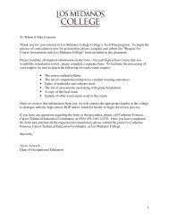 Request for Course Articulation with Los Medanos College Form