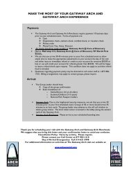 General Group Information - Gateway Arch