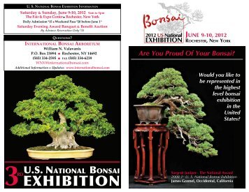 exhiBition - International Bonsai Arboretum