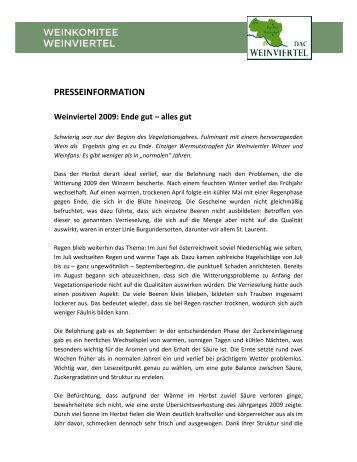 PT_Weinviertel_Jahrgang_2009 [PDF/179.58kB] - Weinviertel DAC