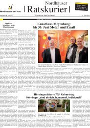 Ratskurier Nr 4 / 2013 - Stadt Nordhausen