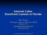 Gambling and Pari-mutuel Law - Florida Association of Counties