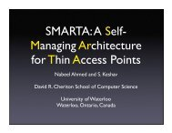 SMARTA: A Self- Managing Architecture for Thin Access Points
