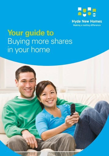 Your guide to Buying more shares in your home - Hyde New Homes