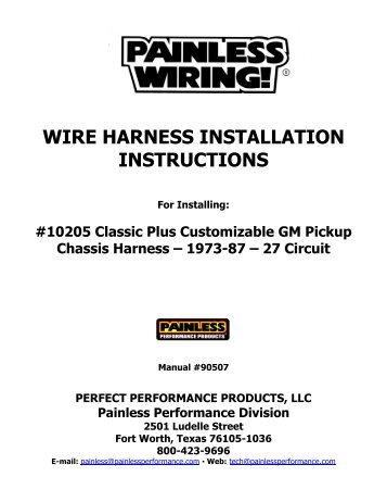 wire harness installation instructions painless wiring rh yumpu com Painless Wiring Fuse Block Painless Wiring Harness Diagram