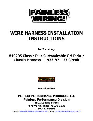 safety harness installation, ignition coil installation, timing chain installation, generator installation, power supply installation, radio installation, on wiring harness installation instructions