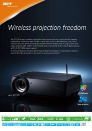 Product Sheet - LCD and DLP Projectors