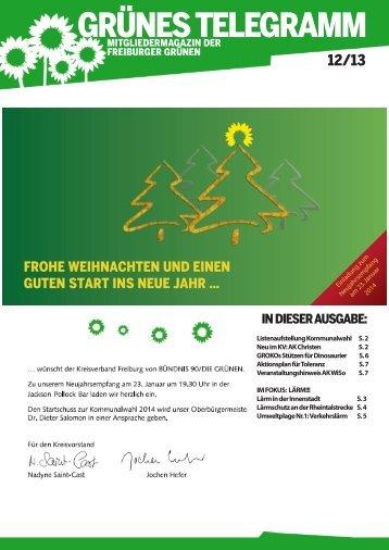 GRÜNES TELEGRAMM - Bündnis 90/Die Grünen in Freiburg